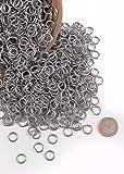 Kettenringe, 3 kg-Paket ca. 6000 Ringe verzinkt 9mm ID Kettenhaube Kettenhemd selber machen