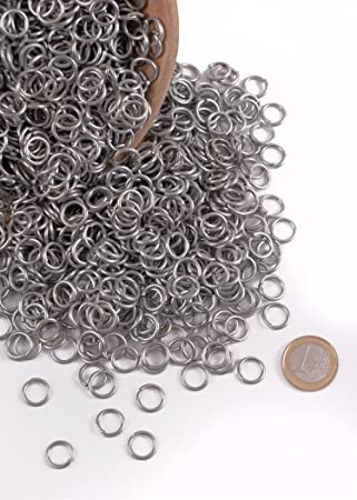 Jump Rings 3 kg-Package: approximately 6000 Rings, Burnished With 9 mm ID Kettenhaube chainmail yourself