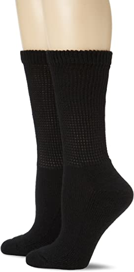 Dr Scholl/'s Women/'s Diabetes and Circulatory Advanced Relief Crew Socks with M