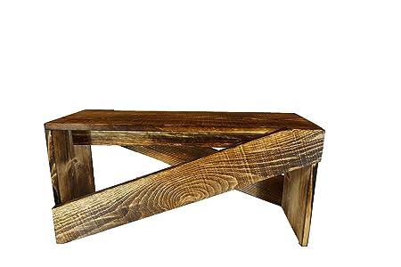 Handmade Rustic Modern Bench — Flintface Woodshop