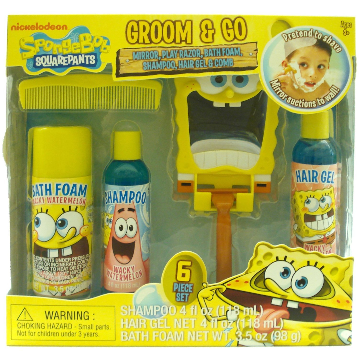 Amazon.com : Nickelodeon Spongebob Boys Groom & Go Gift Set ...