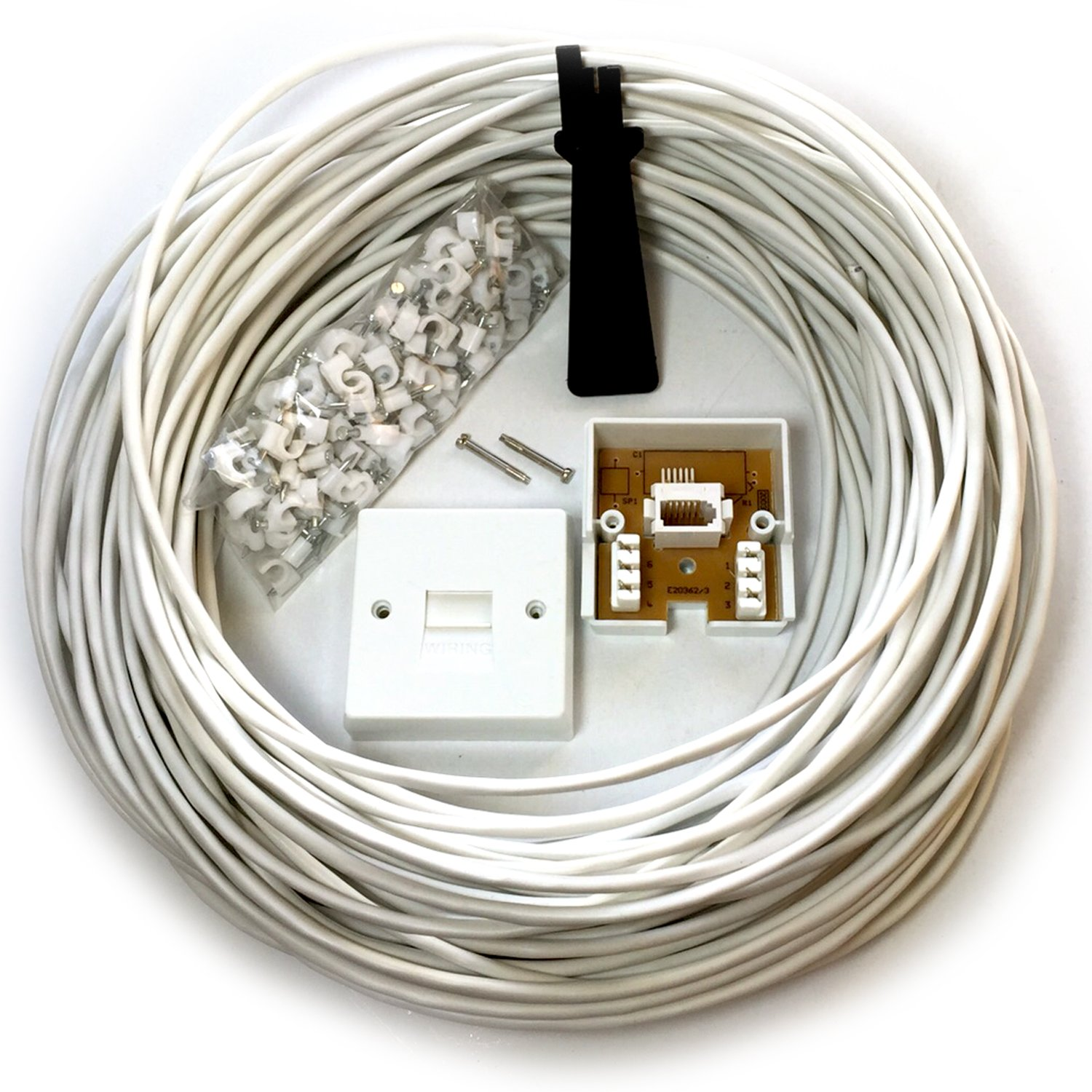 Loops 25m Bt Telephone Master Socket Box Line Extension Cable Kit Wiring Distribution 10m 15m 20m Lead Electronics