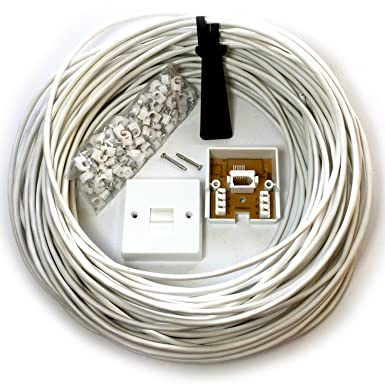 25m bt telephone master socket box line extension cable kit 10m rh amazon co uk Phone Line Wiring Telephone Terminal Block Wiring
