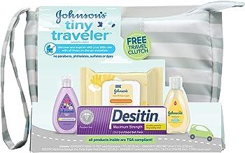 Johnsons Tiny Traveler Baby Bath and Skin Care Gift Set
