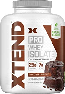 XTEND Pro Protein Powder Chocolate Lava Cake   100% Whey Protein Isolate   Keto Friendly + 7g BCAAs with Natural Flavors   Gluten Free Low Fat Post Workout Drink   5lbs
