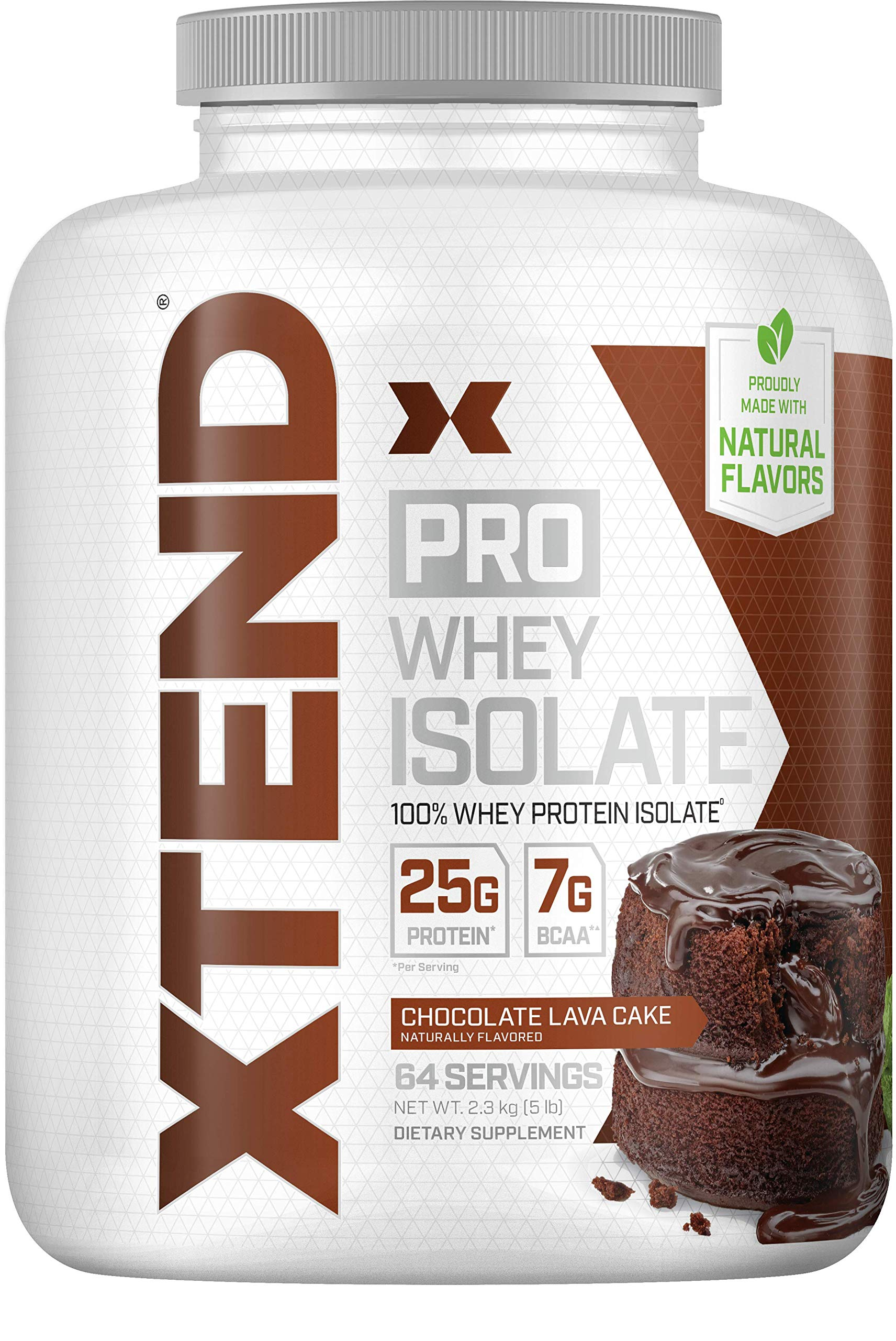 Scivation Xtend Pro, 100% Whey Protein Isolate Powder with BCAAs & Natural Flavors, Post Workout Recovery Drink, Gluten Free Low Carb Low Fat, Chocolate Lava Cake, 5 lbs