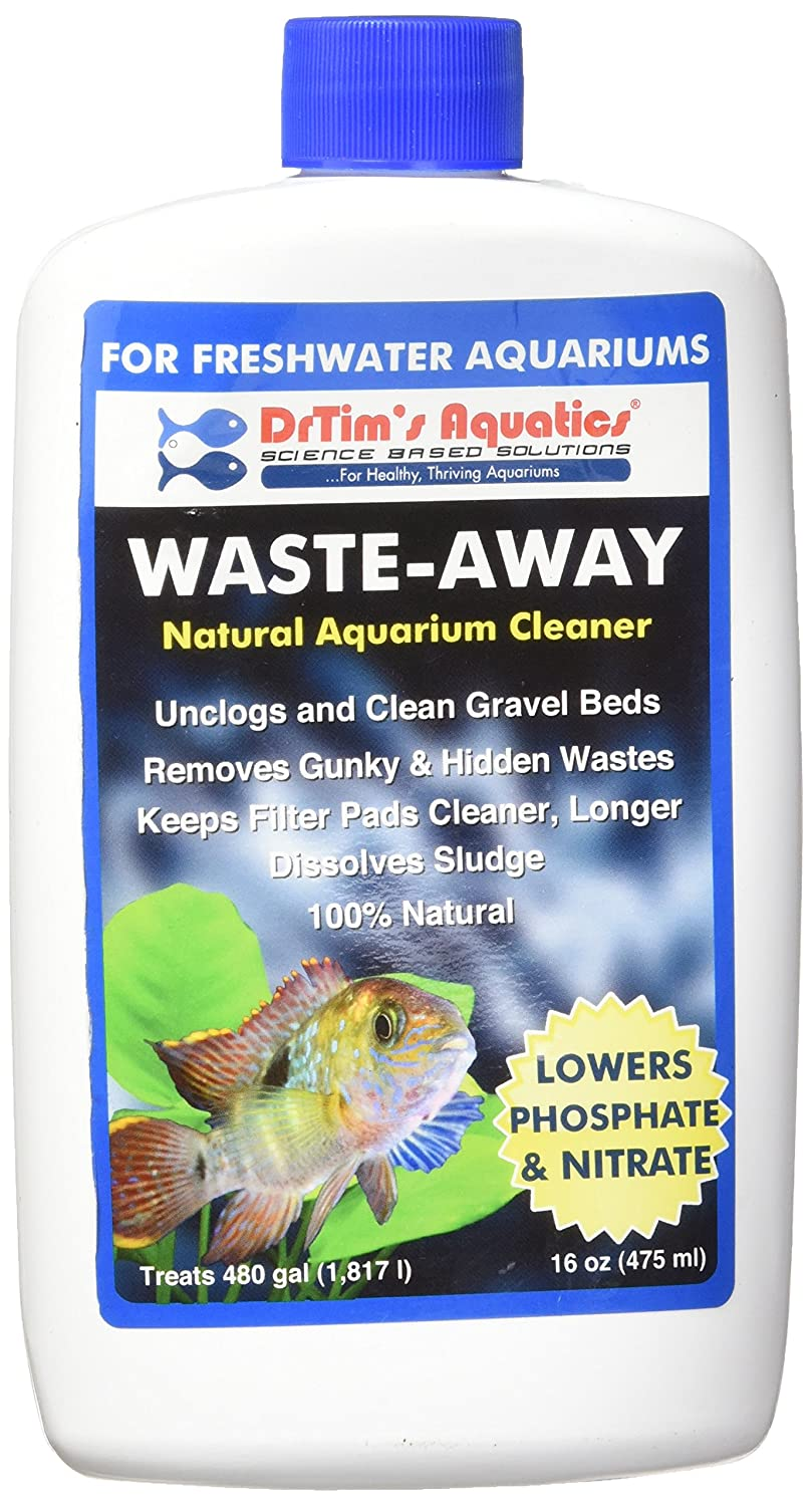 DrTim's Aquatics Waste-Away Natural Aquarium Cleaner, Freshwater 16 oz
