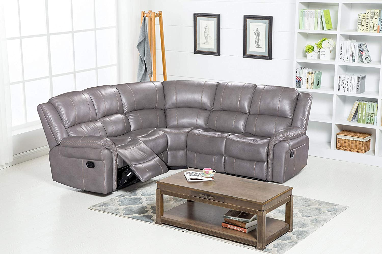 Memphis Luxury Large Cheap Leather Reclining Corner Sofa 5 Seater ...