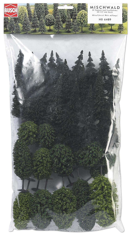 Busch Environnement - BUE6489 - Modélisme Ferroviaire - Assortiment de 30 Arbres Forestiers