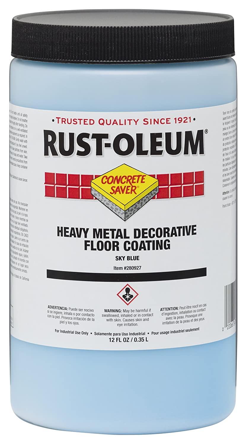 Rust-Oleum 280927 Blue Sky Concrete Saver Heavy Metal Decorative ...