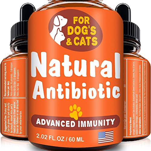 GOODGROWLIES Natural Antibiotic for Dogs and Cats – Kennel Cough Medicine for Pets – Immune System Booster – Allergy Relief Health Supplement – UTI Treatment – Made in USA – 2oz