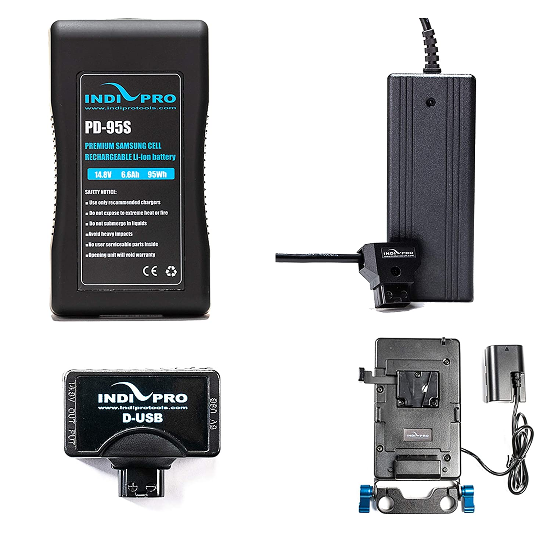 Indipro BMP4KT1 95Wh Vマウントバッテリーキット Blackmagic Pocket Cinema 4K対応   B07PVL3VMK