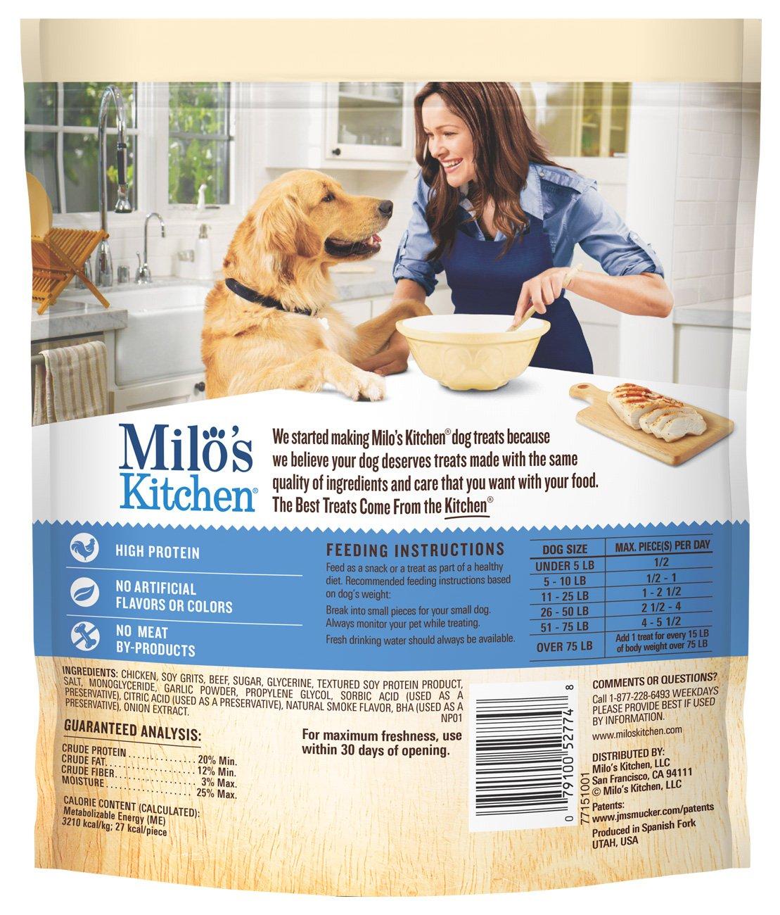 Amazon.com : Milo\'s Kitchen Chicken Meatballs Dog Treats, 18-Ounce ...