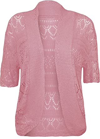 5204ff55f5 MIXLOT New Women s Plus Size Crochet Knitted Shrug Short Sleeve Bolero  Ladies Open Cardigan Top Summer Spring Outerwear