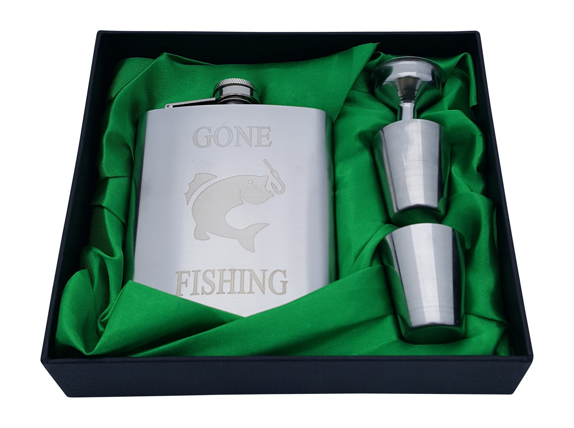 Gone Fishing Flask Gift Set