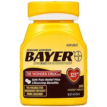 Amazon Genuine Bayer Aspirin Tablets 325 Mg 200 Count Prime