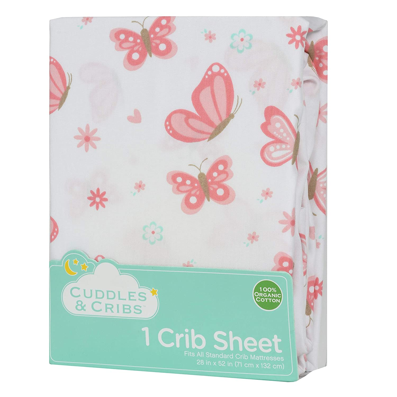 Giraffe Cuddles /& Cribs 1 Pack GOTS Certified Organic Cotton Fitted Crib Sheet