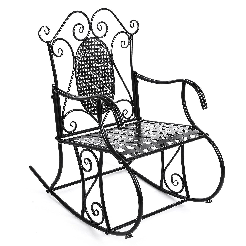 SONGMICS Retro Metallic Garden Rocking Chair GRC101B Amazon Kitchen & Home
