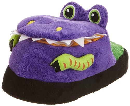 Silly Slipeez Dizzy Dinosaur - Zapatillas de casa de poliéster niño, Color púrpura, Talla 12 UK: Amazon.es: Zapatos y complementos