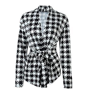Roberstin New Women Blazers And Jackets Black White Plaid Blazer Feminino Summer Blazer Coat Work Wear