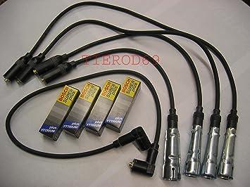 Topran T102 982/bwr7ltc + 2 conjunto de Cable de encendido + Bujías C431: Amazon.es: Coche y moto