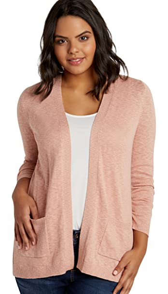 1b041a69cf Maurices Women s Plus Size Boyfriend Cardigan With Pointelle Stitching 2  Peach Beige