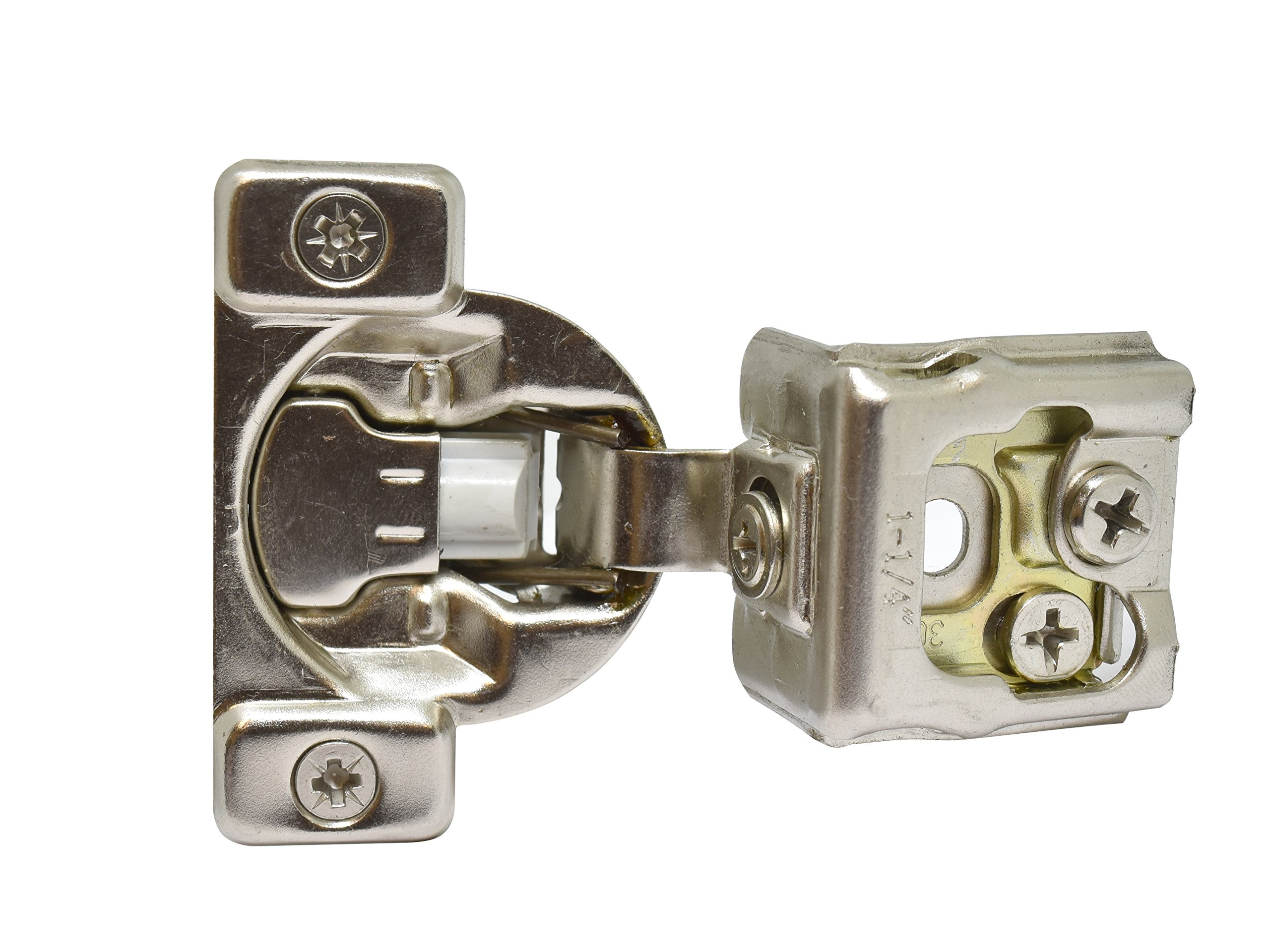 Silverline SCH125S Soft Close Hinge, 3 Way Adjustable, 1-1/4'' Overlay Face Frame, Nickel Plated 25 Pack