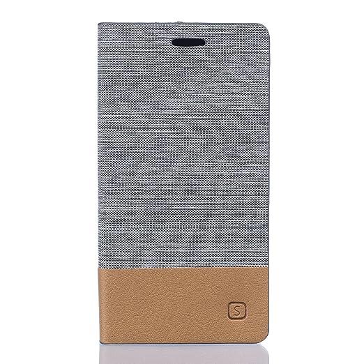 8 opinioni per Voguecase® Per Vodafone Smart Grand 6, (Tricolor- Khaki) Elegante borsa in pelle