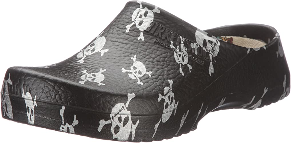 clogs Super-Birki , black skull ,Alpro