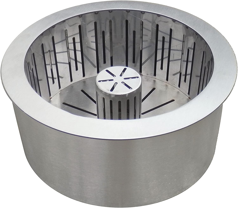 PURLINE PB30 Quemador pellet en acero inox de doble capa con cesta recoge cenizas, gris