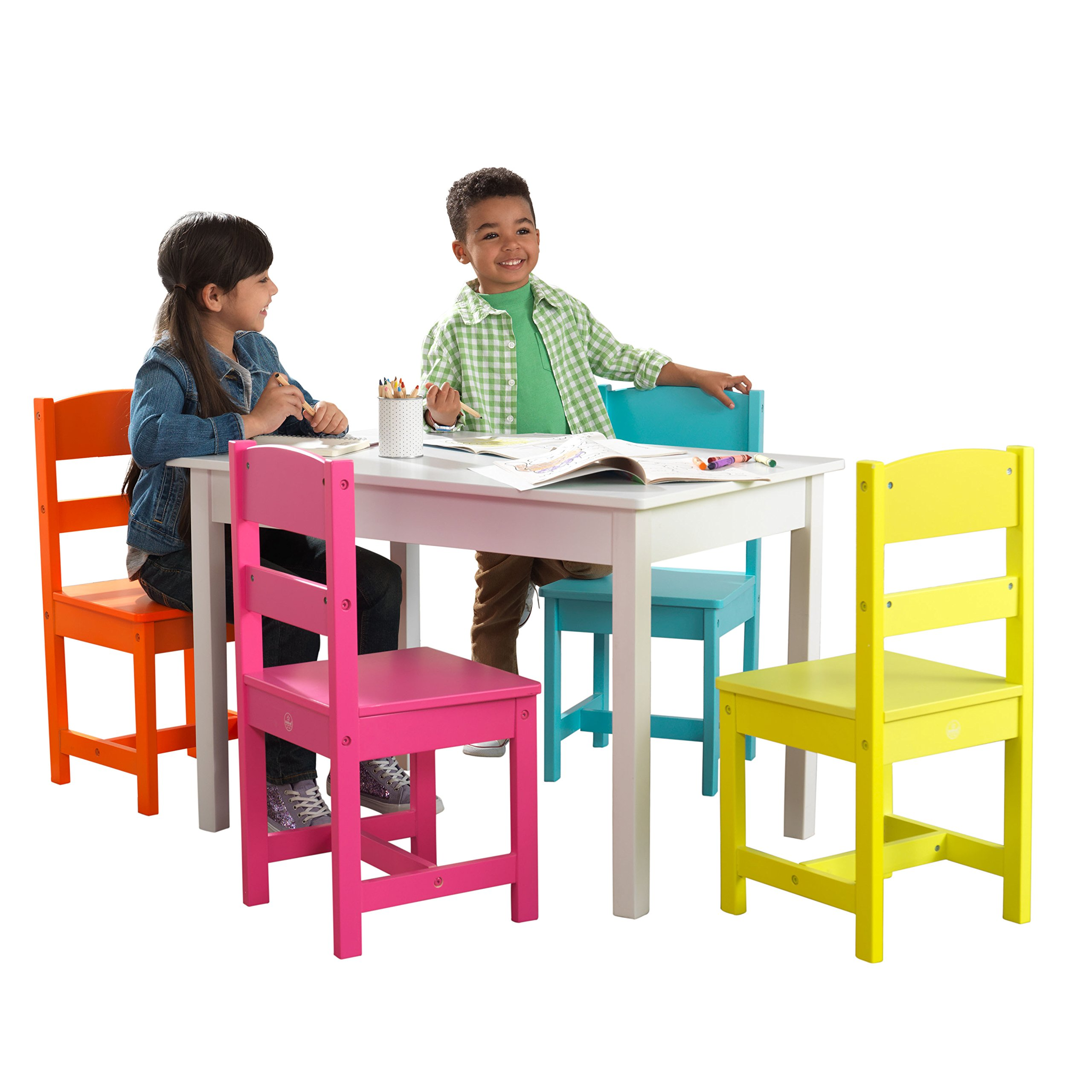 Highlighter Table & 4 Chair Set by ShamBo