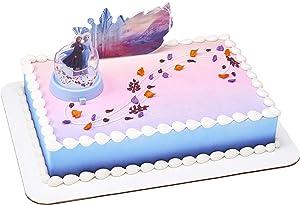 DecoPac Decorations Disney FROZEN 2 Mythical Journey Children/Kids Birthday Party Cake Topper, 2 Piece, Multicolored