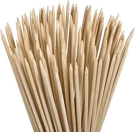 YEZZ Bamboo Marshmallow Roasting Sticks with 20 inch 5 mm Thick Extra Long Heavy Duty Wooden Skewers Roaster Barbecue Smores Skewers /& Hot Dog Forks for Camping,Kebab Sausage