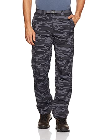 Columbia Men's Silver Ridge Printed Cargo Woven Pants, Black