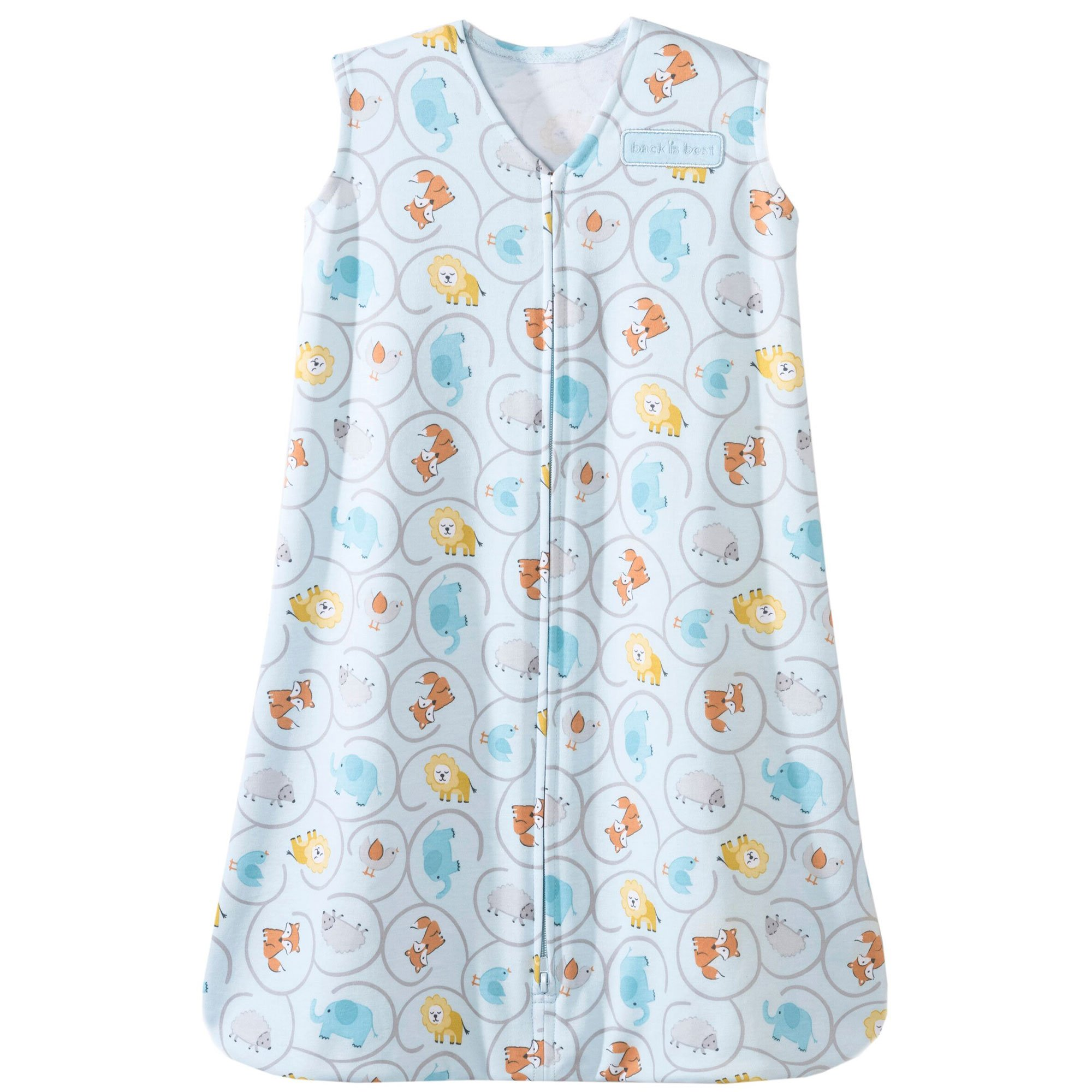 Halo Sleepsack Cotton Wearable Blanket, Animal Swirl Print, Small