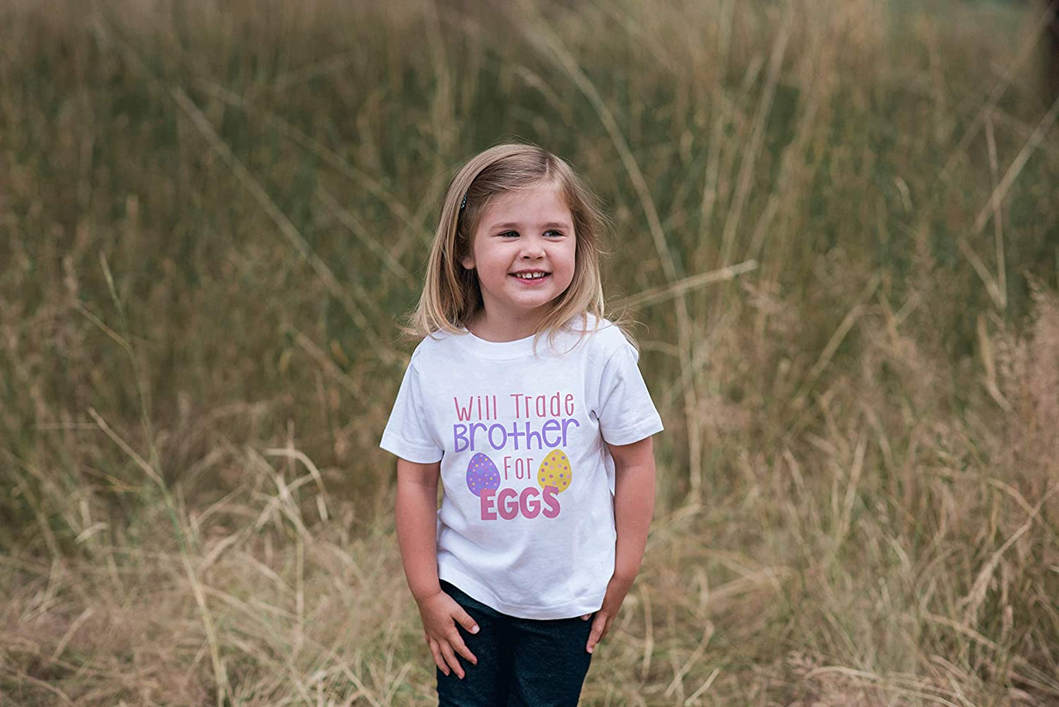 7 ate 9 Apparel Girls Funny Sister Easter T-Shirt