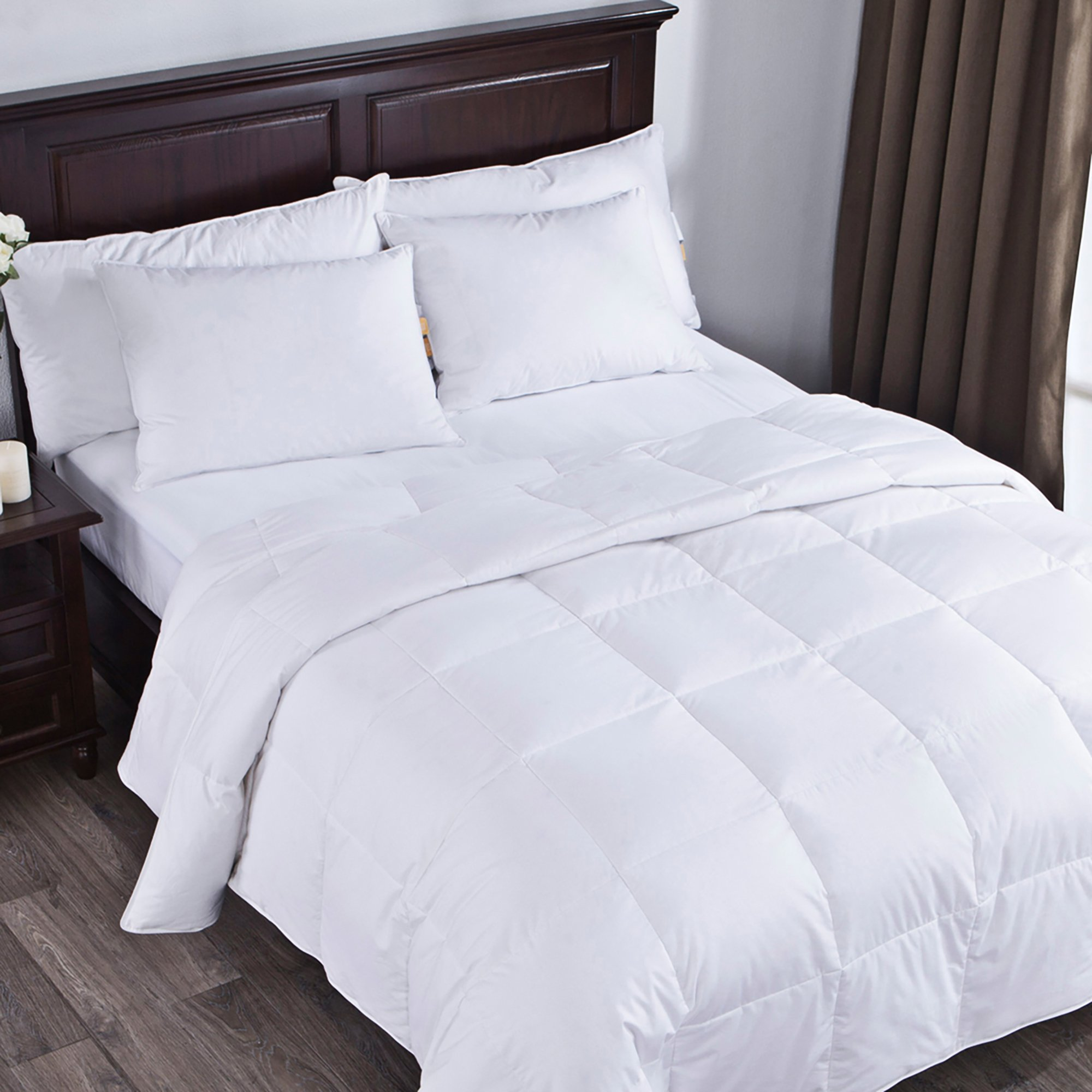 puredown Lightweight White Goose Down Comforter Duvet Insert 300 Thread Count 100% Cotton Fabric 600 Fill Power Down Down Conforter, Full/Queen, by puredown (Image #3)