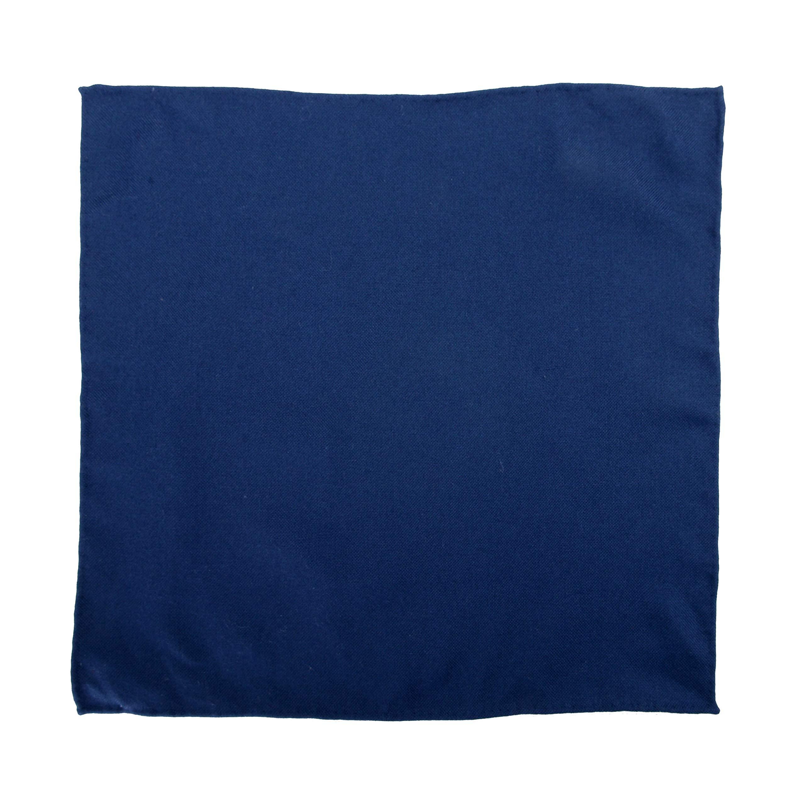 Malo Men's 100% Cashmere Blue Pocket Square