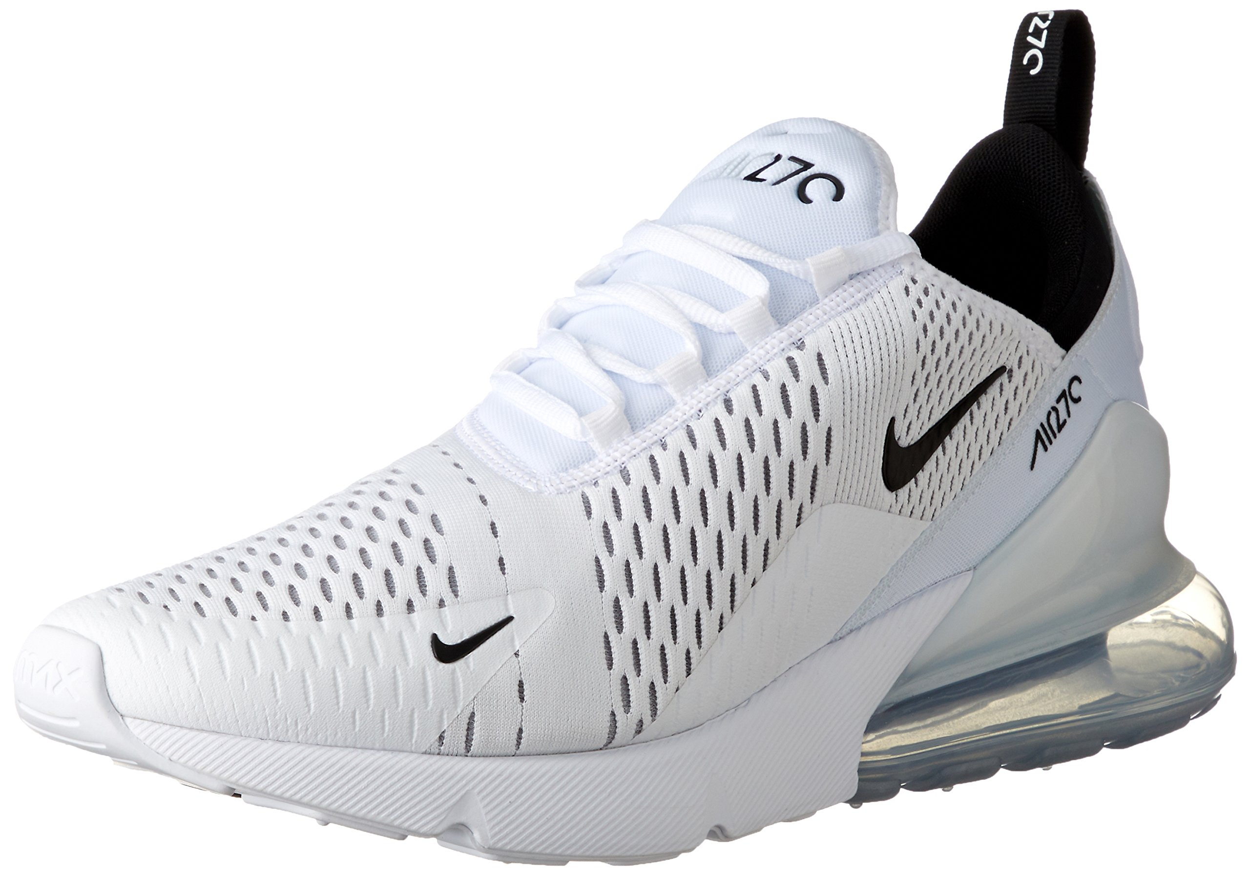 reputable site 94692 6a99a Nike Air Max 270 Men's Running Shoes White/Black-White AH8050-100 (10.5  D(M) US)