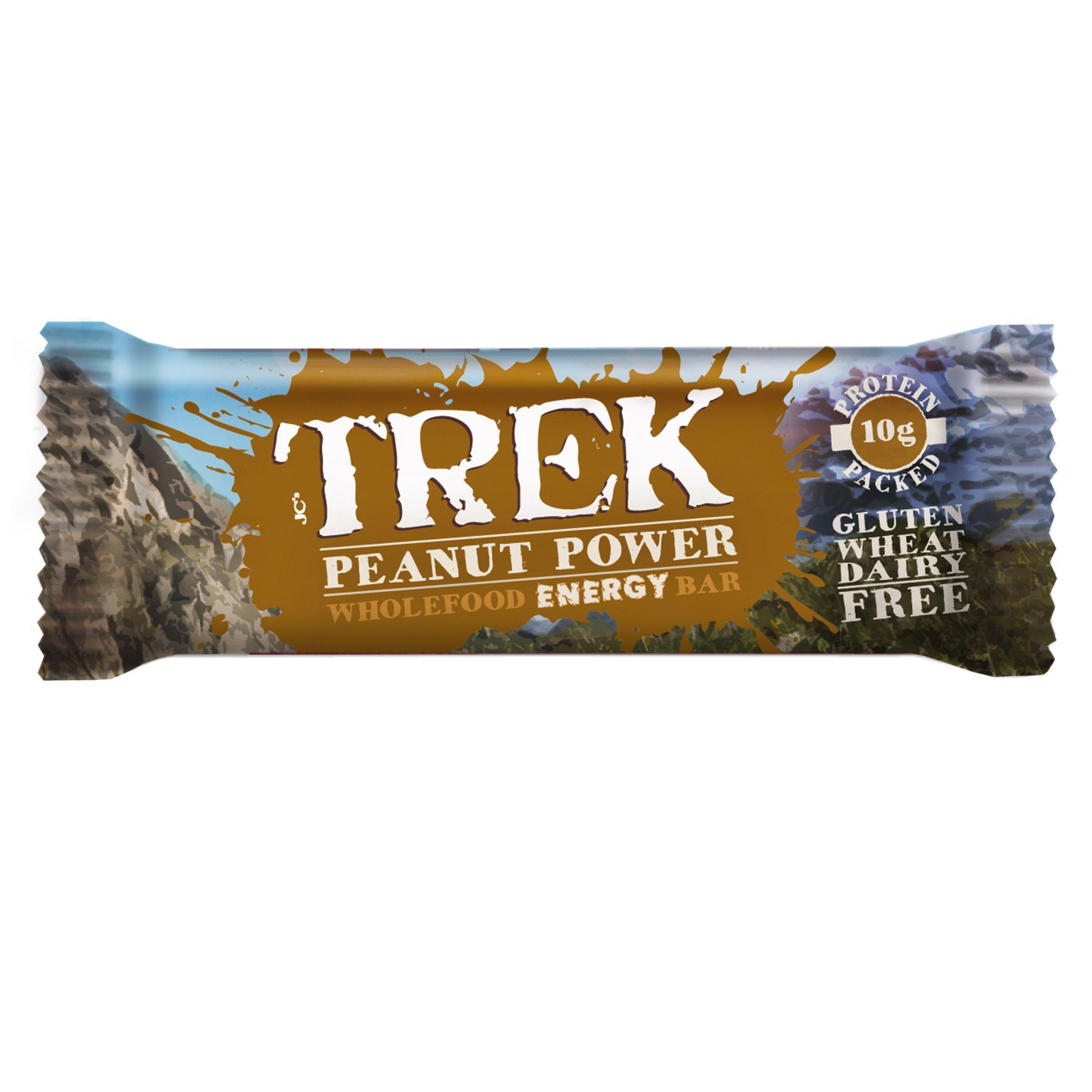 Trek Peanut Power Natural Wholefood Energy Bar - 16 x 55g