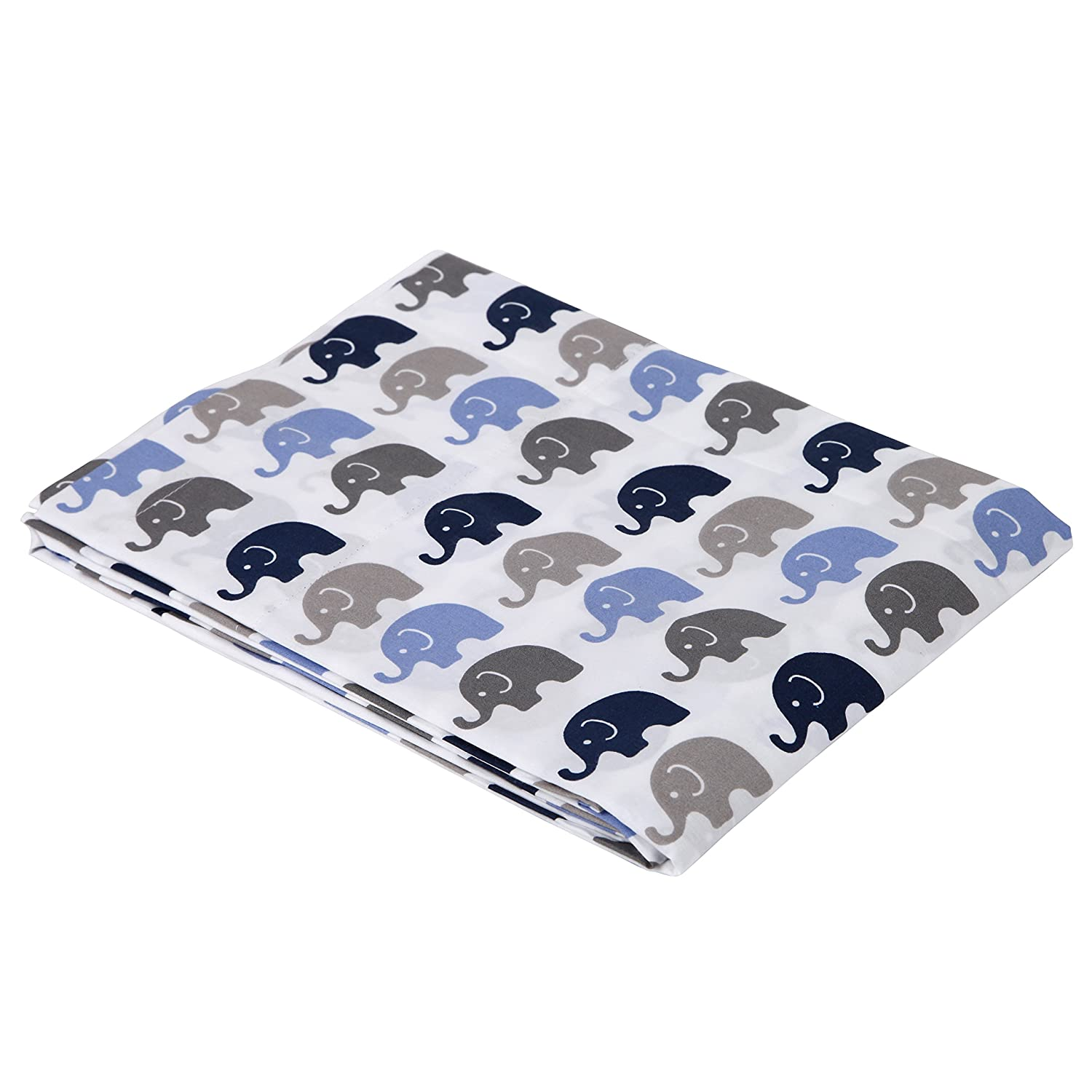 amazon com elephants blue grey mini elephants crib fitted sheet baby