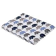 Elephants Blue/Grey Mini Elephants Crib fitted sheet