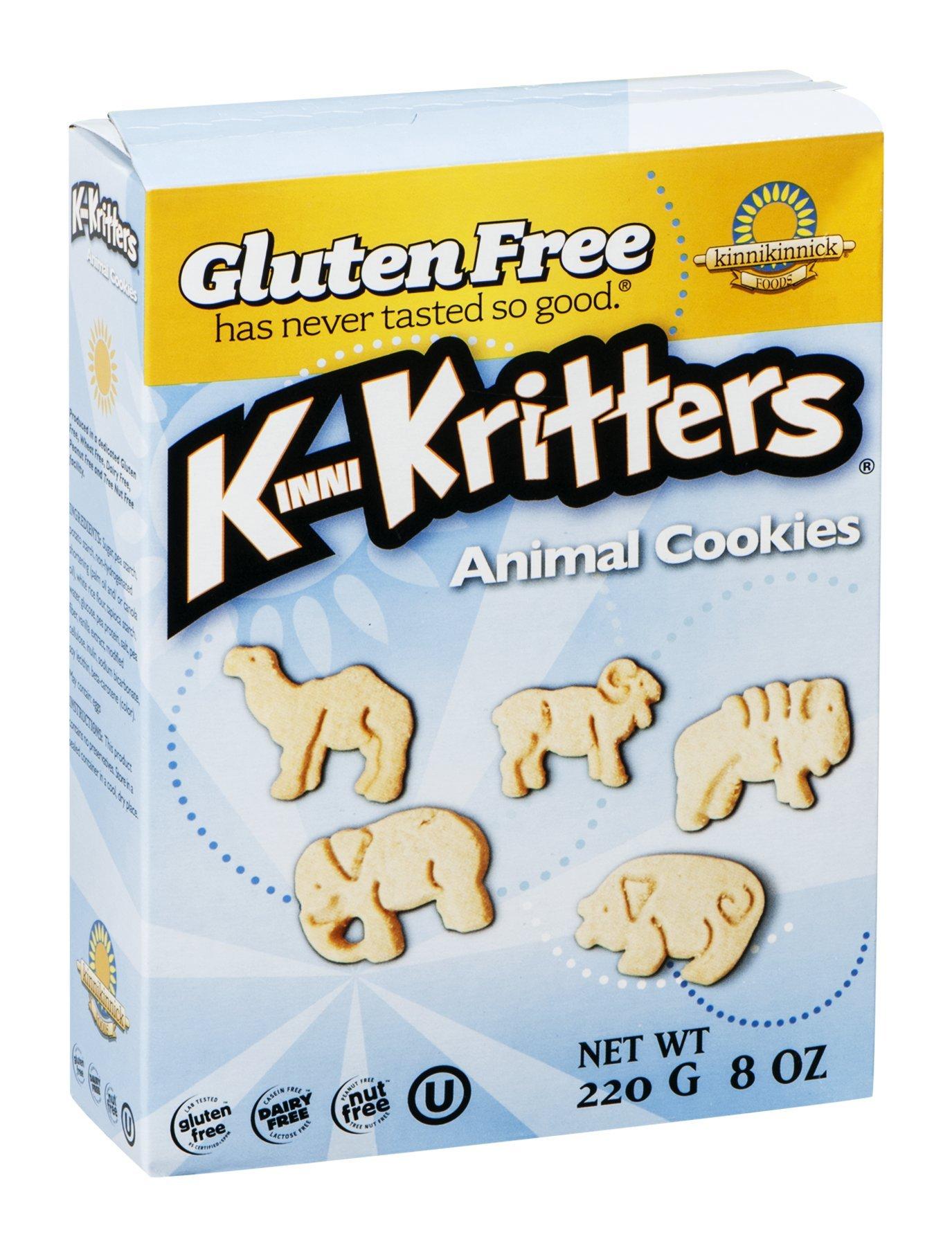 Kinnikinnick Foods KinniKritters Animal Cookies, Gluten Free, Wheat Free, Dairy Free, 8-Ounce Box (Pack of 6) ( Value Bulk Multi-pack)