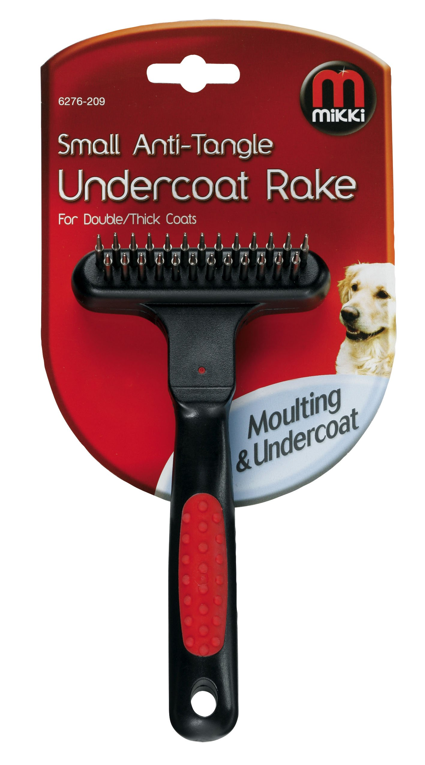 Interpet Mikki Anti-tangle Undercoat Rake Double/Thick Coat Small by Mikki