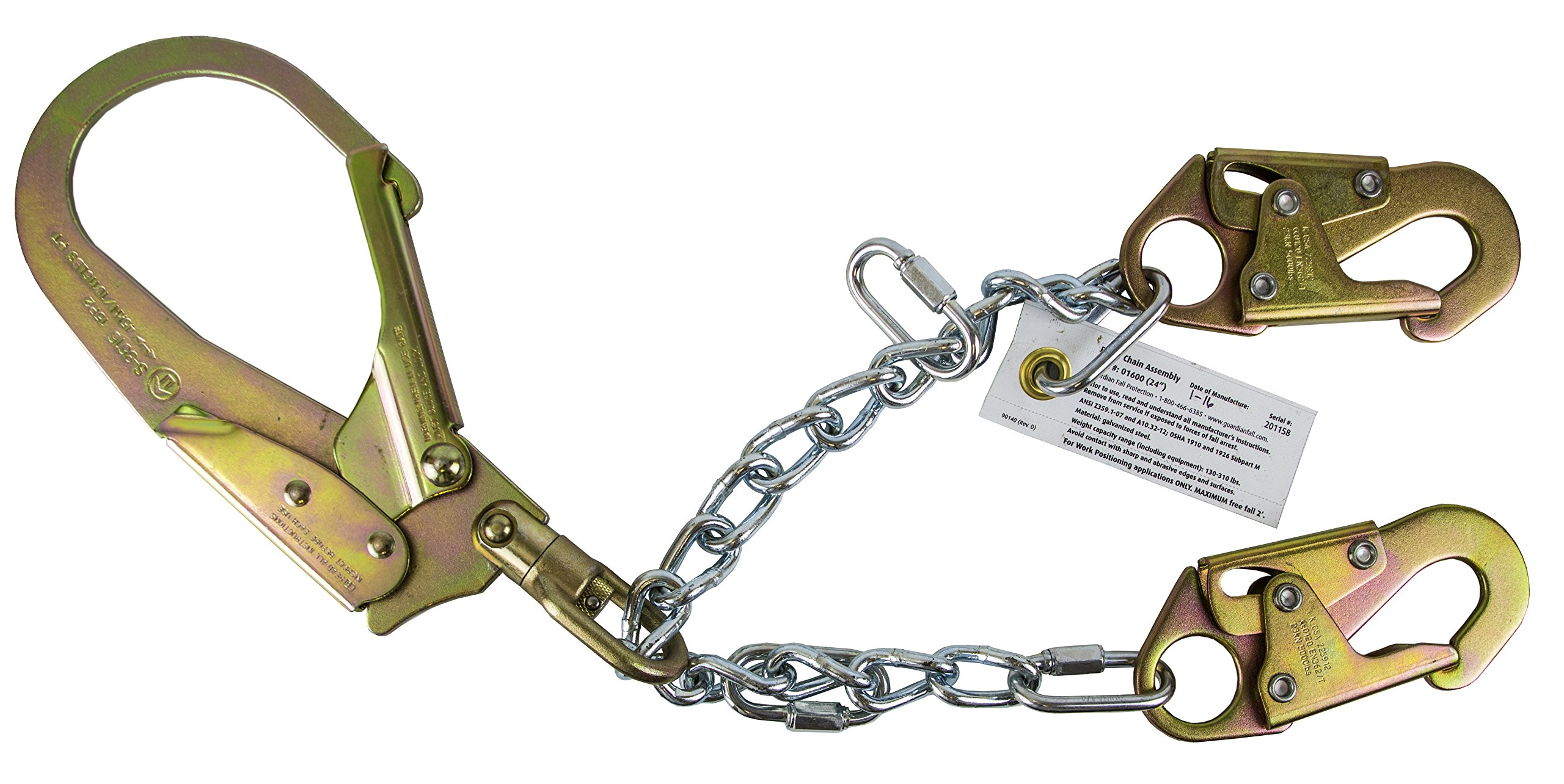 Guardian Fall Protection 01600 REBR-C Rebar Positioning Device 24-Inch Chain Assembly Swivel by Guardian Fall Protection