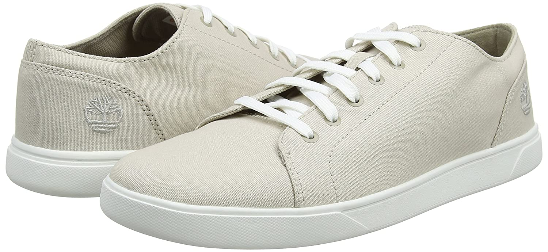 Timberland Bayham, Zapatos de Cordones Oxford para Hombre, Blanco (Rainy Day Canvas F48), 43 EU