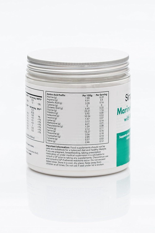 Colágeno marino con vitamina C 200gr - Colágeno en polvo de gran concentración - Articulaciones, piel y dientes - Para mezclarlo con tu bebida favorita ...