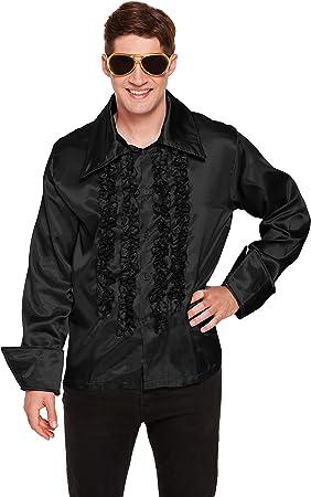 Emmas Wardrobe Camisa Negro Volante Disco de 70 60: Amazon.es: Juguetes y juegos