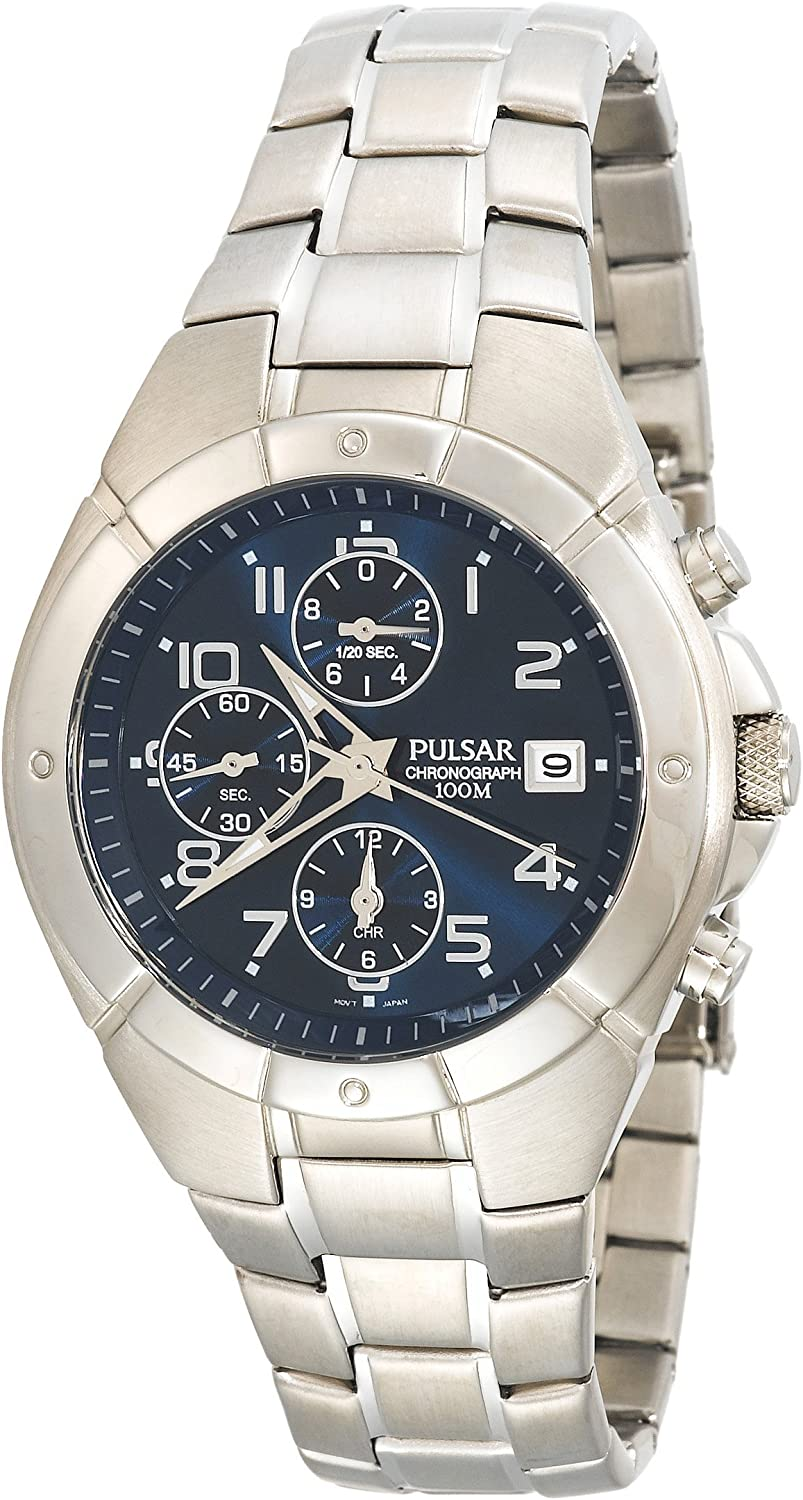 Pulsar Men s PF8189 Chronograph Silver-Tone Stainless Steel Watch