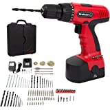 Cordless Drill Set- 89 Piece Kit, 18-Volt Power Tool with Bits, Sockets, Drivers, Battery Charger with AC Adapter, and Carrying Case by Stalwart